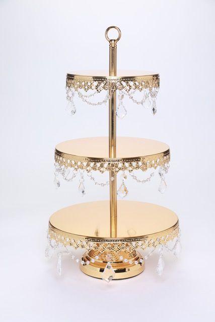 Dessert Stand 3 Tiers With Chandelier Accents Opulent Treasures