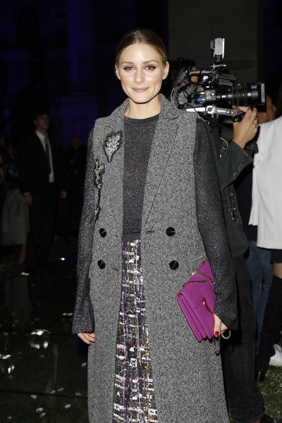Olivia Palermo attends the Salvatore Ferragamo show during Milan Fashion Week Spring/Summer 2018.