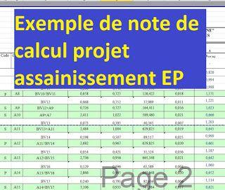 Exemple De Note De Calcul Projet Assainissement Ep Assainissement Calcul Cours Genie Civil