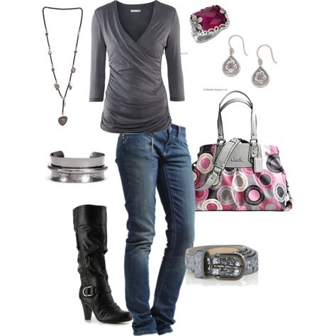 Perfect outfit and that coach bag is featured on another set on this board; love it!