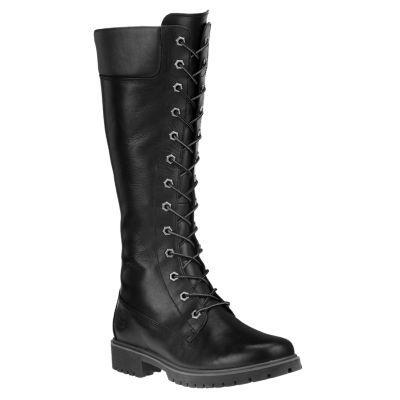 Women's 14 Inch Premium Side Zip Lace Waterproof Boots