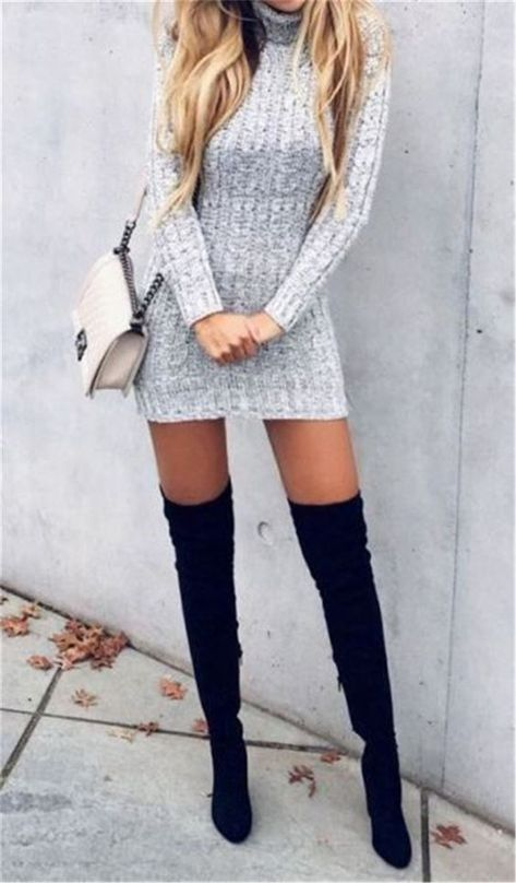 Perfect And Modest Winter Outfits Ideas With Knee High Boots; Winter Outfits; Knee High Boots; High Boots; Thigh High Boots; Boots; Winter Boots; Winter High Boots; Outfits #outftis #kneehighboots #highboots #thighhighboots #boots #winterboots