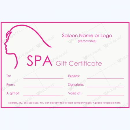 spa gift certificate template free download salon card butterfly - blank voucher template