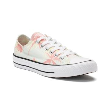 Converse Womens Converse Chuck Taylor All Star Big Eyelets Lo Leather Sneaker Pink from Journeys | ShapeShop