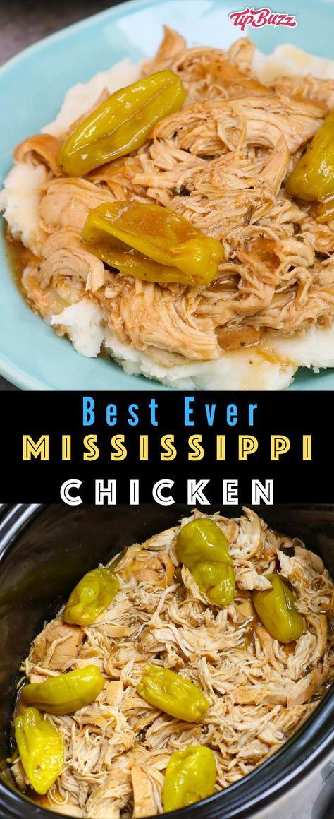 Mississippi Chicken, Mississippi Mud Cake, Mississippi Pot Roast, Easy Chicken Recipes, Easy Crockpot Chicken Recipe, Healthy Crockpot Dinners, Delicious Crockpot Recipes, Slow Cooker Recipes, Cooking Recipes