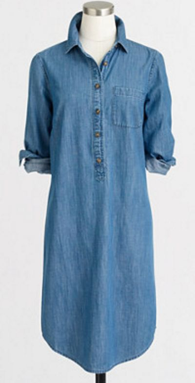 Love my chambray shirtdress - under $50!