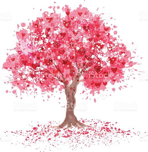 Cherry blossom tree in abstraction style. royalty-free stock vector art