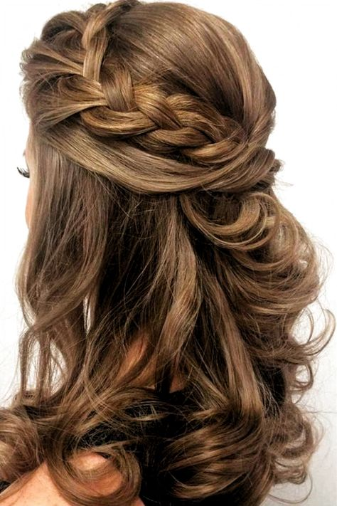 Beautiful braided wedding hairstyles_half up hairstyles 7 #weddinghairstyles