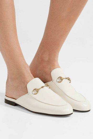 Leather slippers, Gucci princetown