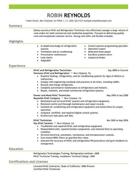TCAT - D Tech Foundations (durham0078) on Pinterest - hvac technician resume sample