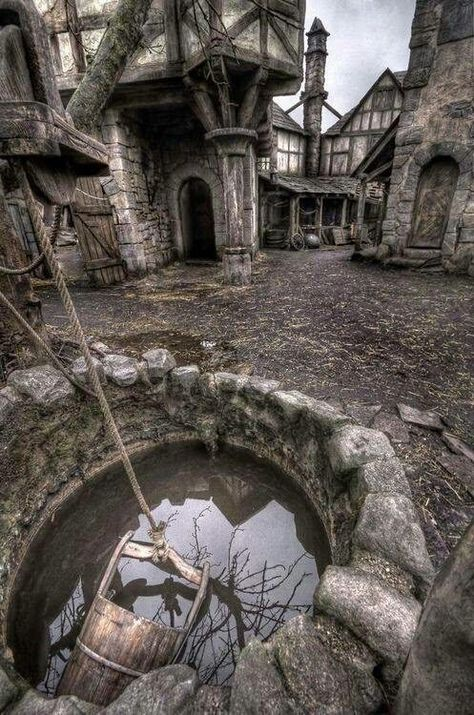 This abandoned medieval village or town is apparently a real place in Scotland. Also a real place I want to live for two years. Abandoned Buildings, Abandoned Mansions, Abandoned Film, Abandoned Castles, Abandoned Places In The Uk, Haunted Places, Spooky Places, Ghost Towns, Ghost City