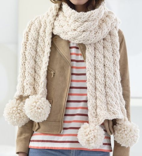 Free Knitting Pattern For 4 Row Repeat Cabled Scarf This Easy