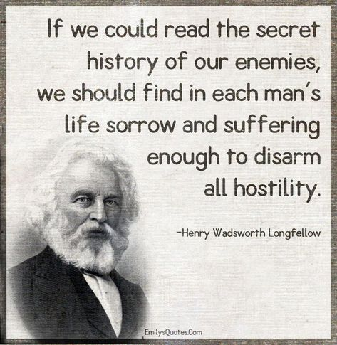 If we could read the secret history of our enemies, we should find in each man's | secret History Facts #