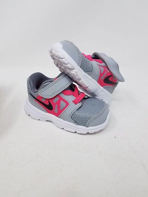 NIKE Toddlers Downshifter 7 Black//Hyper Pink//White Running Shoe 10 Infants US