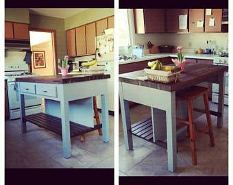 Butcher Block Kitchen Island Etsy In 2020 Custom Kitchen Island Butcher Block Island Kitchen Kitchen Island With Seating