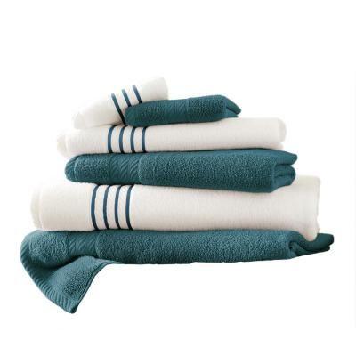 Amrapur Overseas 6 Piece Deep Sea Stripe Bath Towel Set Deap Sea