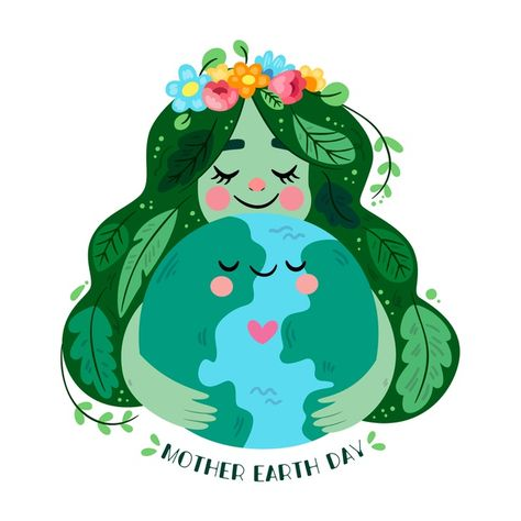 Flat design mother earth day concept Fre...   Premium Vector #Freepik #vector #design