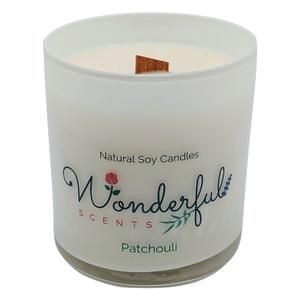 11 oz Hand Poured Soy Wax Tumbler Candle With Wood Wick