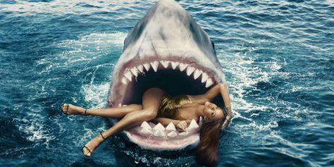 Rihanna Swam With Sharks, Glamorously -Cosmopolitan.com