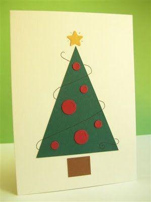 Postales De Navidad Fáciles Tarjetas De Navidad Sencillas Tarjetas De Navidad Hechas A Mano Postales Navidad