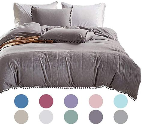 3pcs Aqua Washed Cotton Duvet Cover