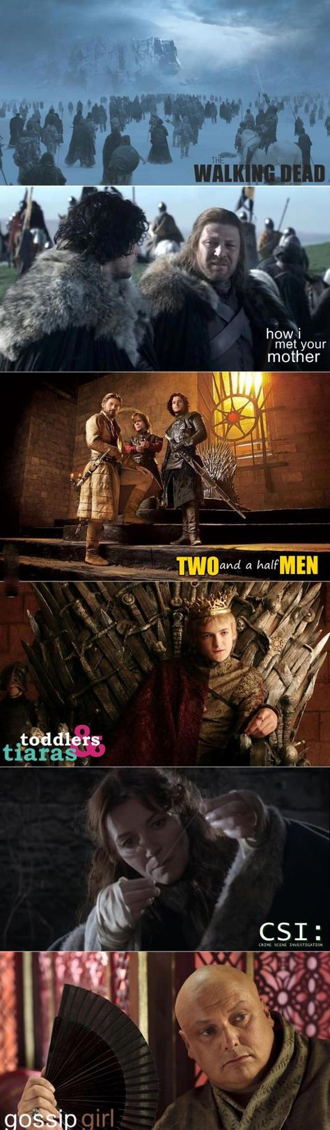 Funny pictures about Game of Thrones as other popular TV shows. Oh, and cool pics about Game of Thrones as other popular TV shows. Also, Game of Thrones as other popular TV shows.