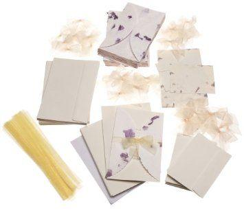 28 Plus Shipping Amazon Wilton Pressed Floral Lavender Invitation Kit Kitchen Dining