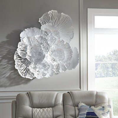 Phillips Collection Flower Wall Decor In 2021 Flower Wall Decor Silver Wall Decor Flower Wall