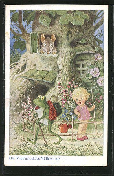 Pin Auf Fritz Baumgarten Weise Postcards