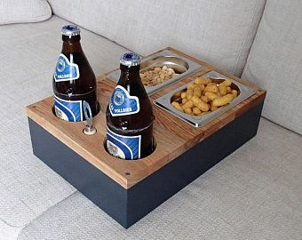 Couch Butler Sofa Tray The Men S Gift In Oak Body Etsy In 2020 Beer Crate Crates Mens Gifts