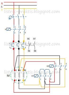 Rangkaian Star Delta Motor Listrik 3 Fasa Menggunakan Plc Listrik Praktis Di 2021 Motor Listrik Teknik Listrik Listrik