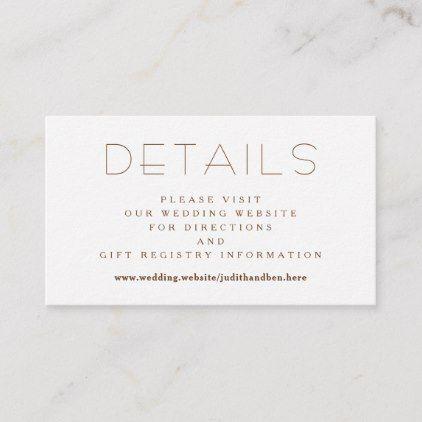 Small Details Wedding Website Enclosure Card Zazzle Com Enclosure Cards Wedding Website Cards