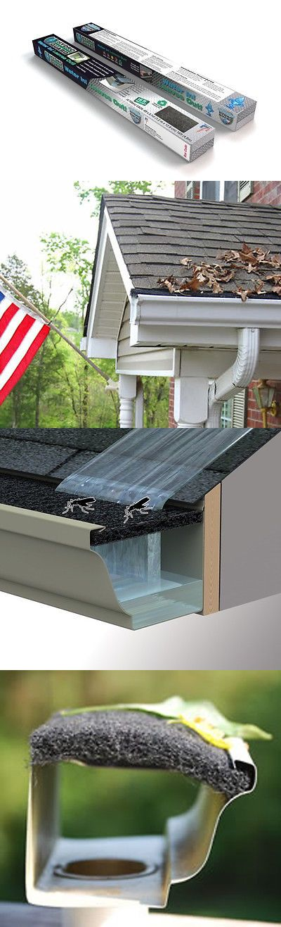 Hydroguard Gutter Filter Protection 16 Ft Foam Gutter Helmet Ebay Gutter Helmet Gutter Leaf Guard Home And Garden