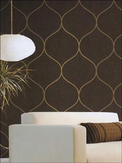 Contemporary wallpaper accent - Love the colors and simple pattern