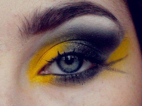 Hufflepuff makeup!!!!!!!