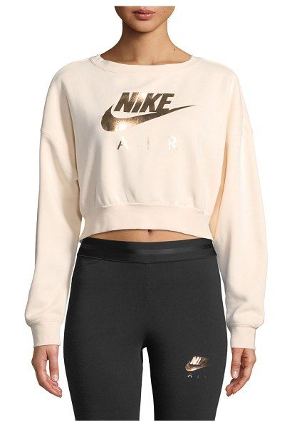 Nike Air Cropped Athletic Sweatshirt Sports Wear Fashion Cute Nike Outfits Nike Women Outfits