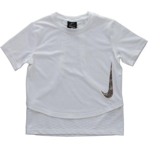 Nike Tricou de alergare INSTACOOL - Scolari fete regular fit; material usor, subtire cu tehnologie Dri-FIT; cusatura orizontala, in straturi in talie si doua cusaturi verticale, decorative, in straturi, in pareta din spate; Swoosh supradimensionat inserat in lateral in partea din fata; terminatie dreapta