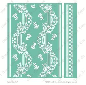 Cricut Cuttlebug™ x Embossing Folder & Border, Eyelet Stripe, Anna Griffin.