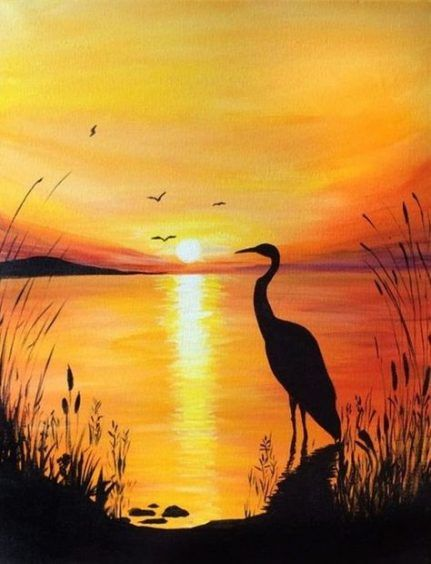 44 Trendy Art Nature Paintings Inspiration Nature Art Landscape Paintings Acrylic Scenery Paintings Silhouette Painting