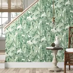 Genevieve Tropical Jungle 33 L X 20 5 W Peel And Stick Wallpaper Roll Peel And Stick Wallpaper Wallpaper Roll Waves Wallpaper