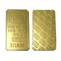 24k 1 Oz Credit Suisse Gold Bullion Clad Bar One Ounce Fine Gold 999 9 Replica Souvenir Coins With Different Serials Number Wish Gold Bullion Gold Bullion Bars Buy Gold And Silver