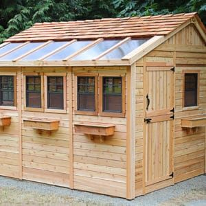 She Shed Sunshed Garden 12 X12 Outdoor Living Today Backyard Sheds Outdoor Sheds Shed Plans