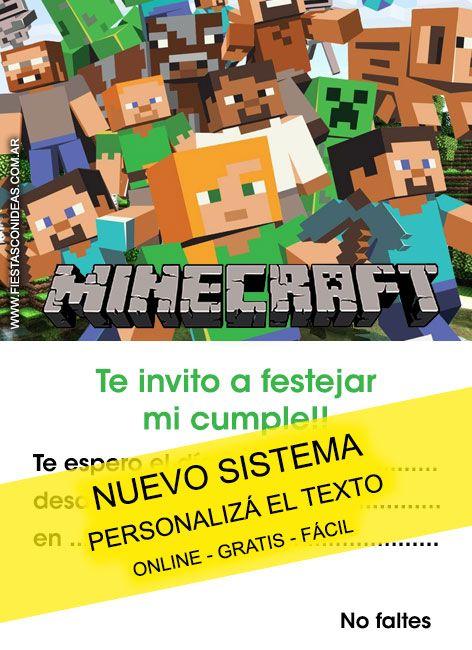 Tarjeta De Cumpleaños De Minecraft Para Imprimir