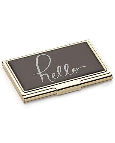 Lenox Kate Spade New York Boudoir Chic Hello Business Card Holder Chic Business Card Business Card Holders Card Holder