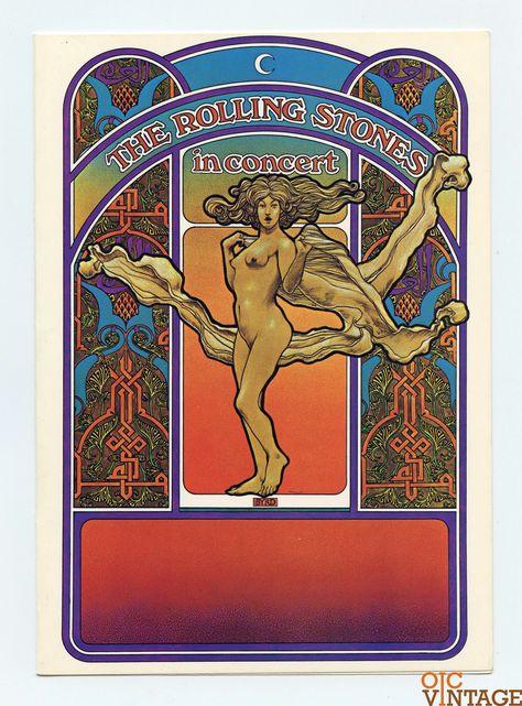 Rolling Stones in Concert 1969 1970 Card Handbill David Edward Byrd