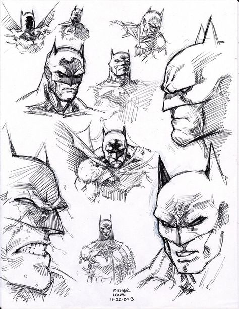 drawing superhero ball point pen flipped through my copy of Batman 'Hush' by Jim Lee and just started filling the page with head shots. i was drawing direct with only ball point pen so i was fortunate the compositio. Batman Poster, Batman Artwork, Batman Comic Art, Poster S, Batman Drawing, Drawing Superheroes, Comic Drawing, Cartoon Drawings, Jim Lee Batman