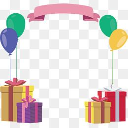 Gift Box Balloon Birthday Frame Frame Clipart Vector Png Birthday Poster Png Transparent Clipart Image And Psd File For Free Download Birthday Frames Birthday Photo Frame Photo Frames For Kids