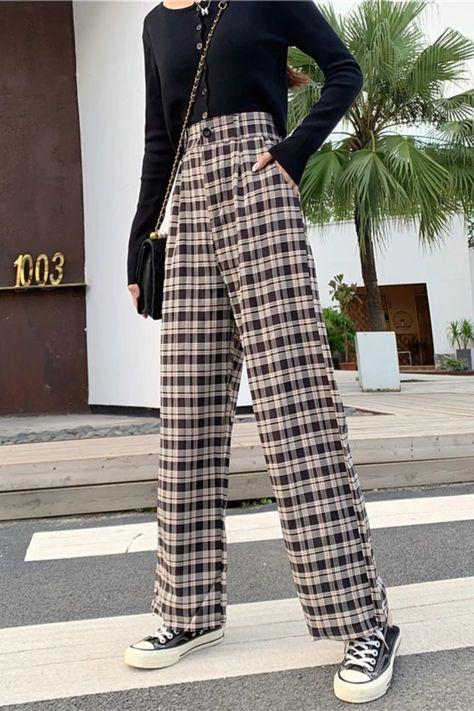 Pants Streetwear 2021 Winter Fashion Korean Style Wide Leg Harajuku Baggy Black High Waisted Vintage
