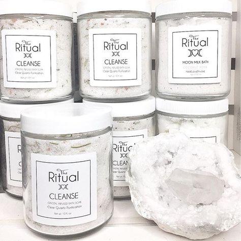 bathtime Bath Rituals CLEANSE Crystal...