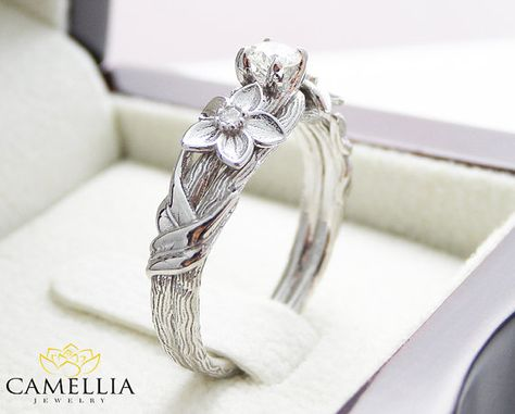 Hey, I found this really awesome Etsy listing at https://www.etsy.com/listing/234297259/branch-engagement-ring-14k-white-gold